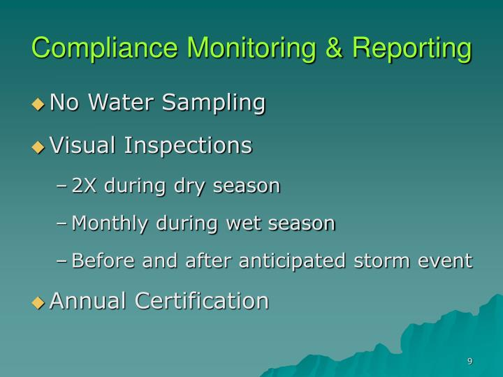 Compliance Monitoring & Reporting