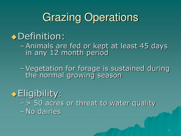 Grazing operations