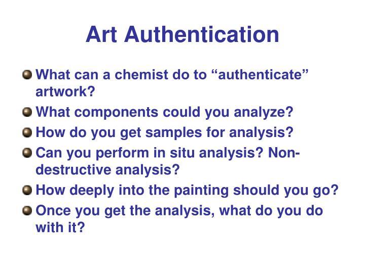 Art Authentication