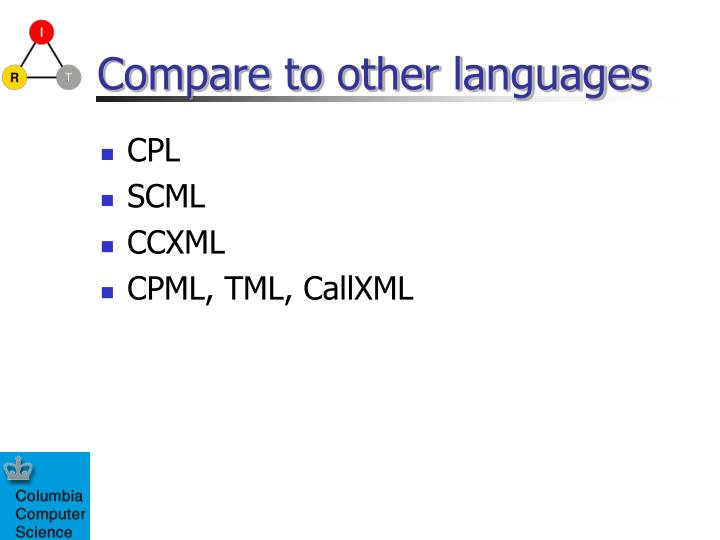 Compare to other languages