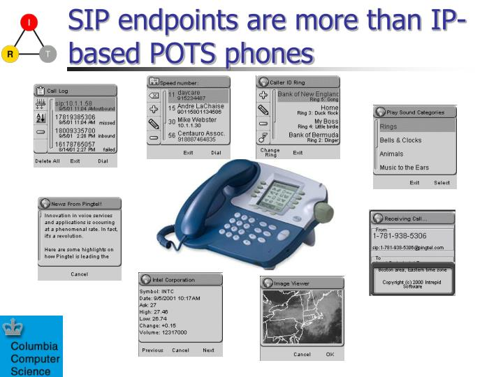 SIP endpoints are more than IP-based POTS phones