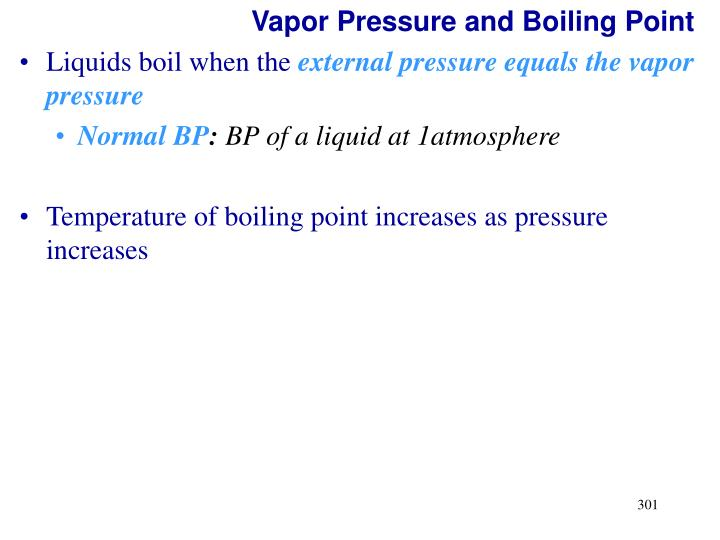 Vapor Pressure and Boiling Point