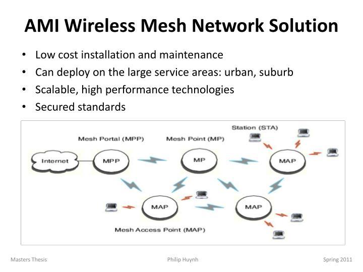 AMI Wireless Mesh Network Solution