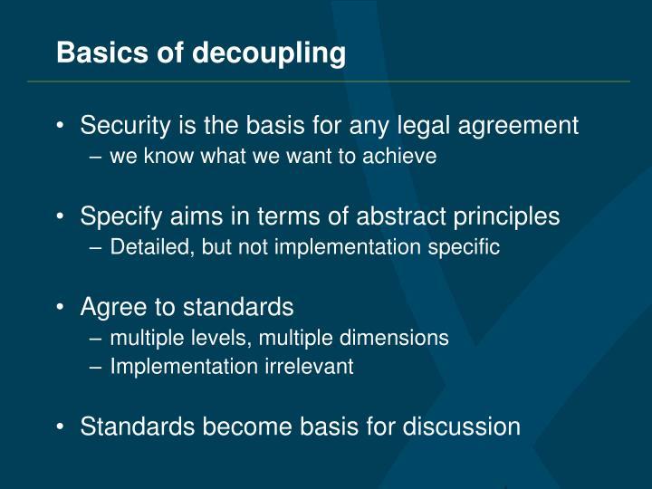 Basics of decoupling