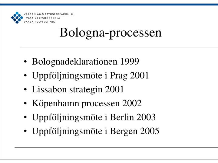 Bologna-processen