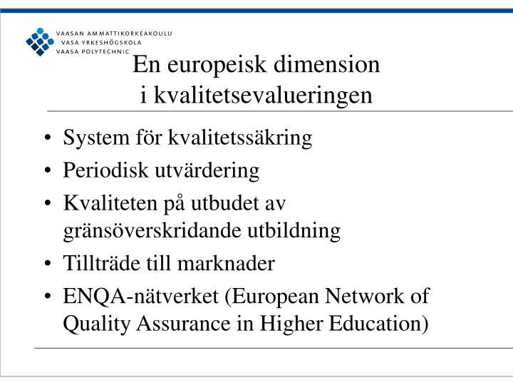 En europeisk dimension