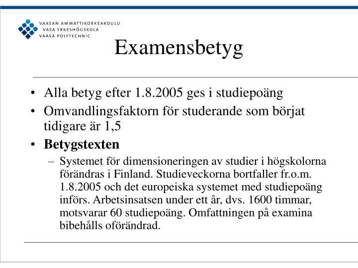 Examensbetyg