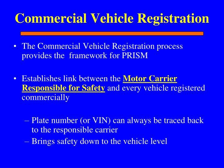 Commercial Vehicle Registration