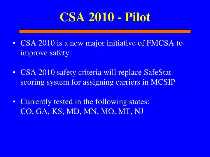 CSA 2010 - Pilot