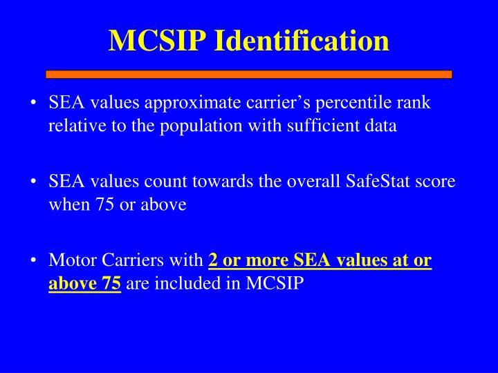 MCSIP Identification