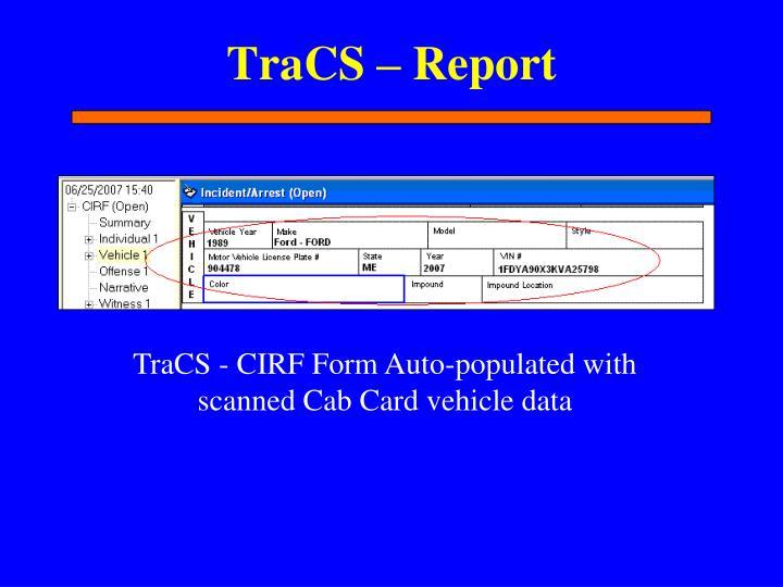 TraCS – Report