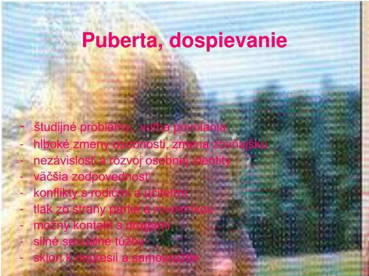 Puberta, dospievanie