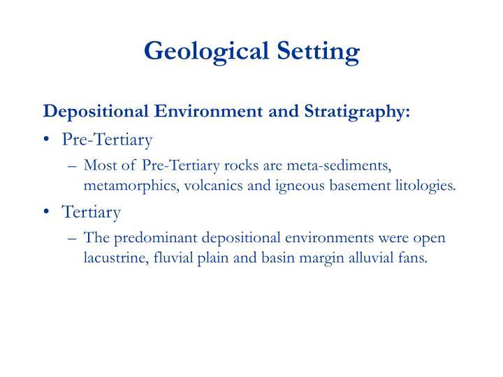 Geological Setting