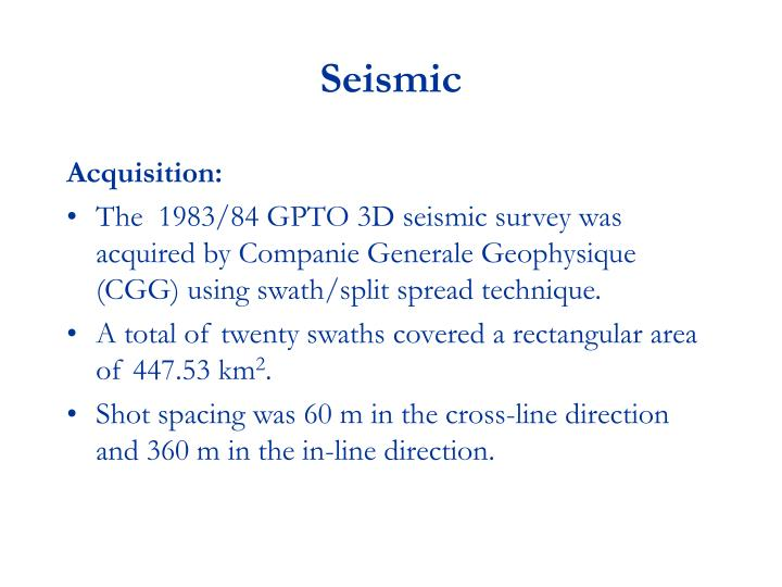Seismic