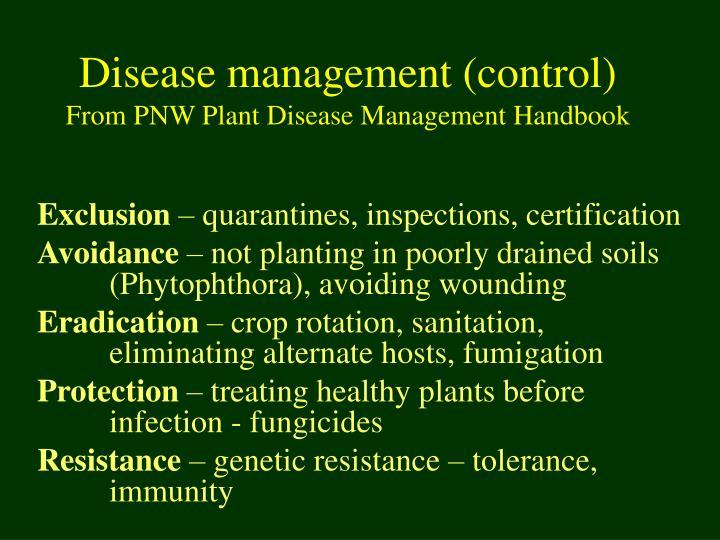 Disease management (control)