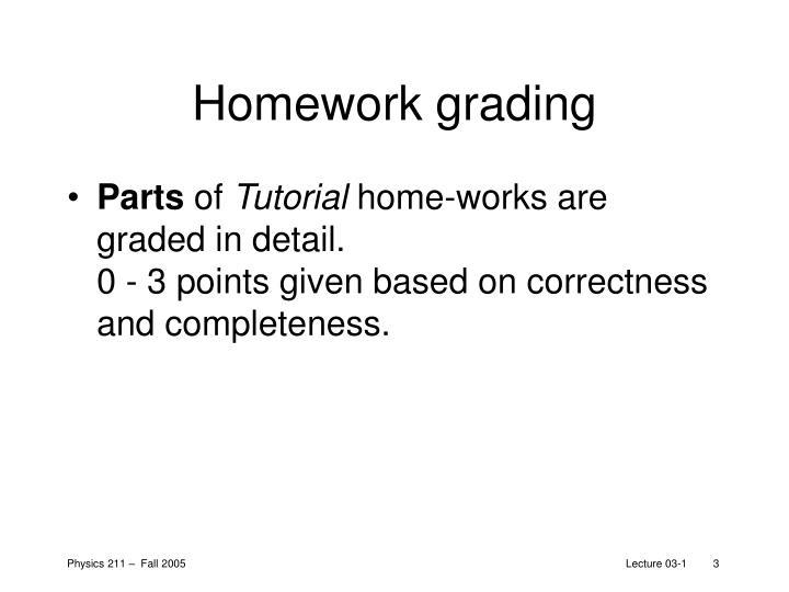 Homework grading