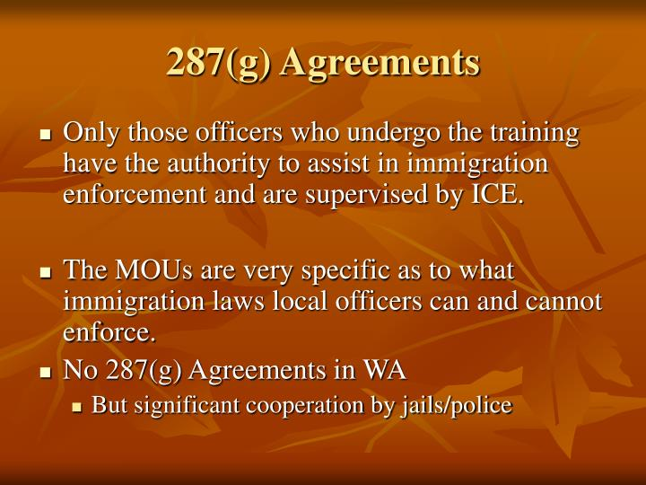287(g) Agreements
