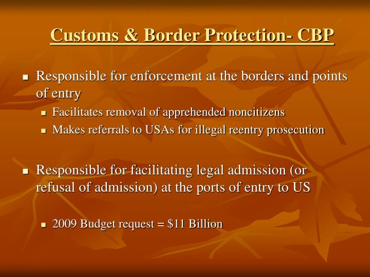 Customs & Border Protection- CBP