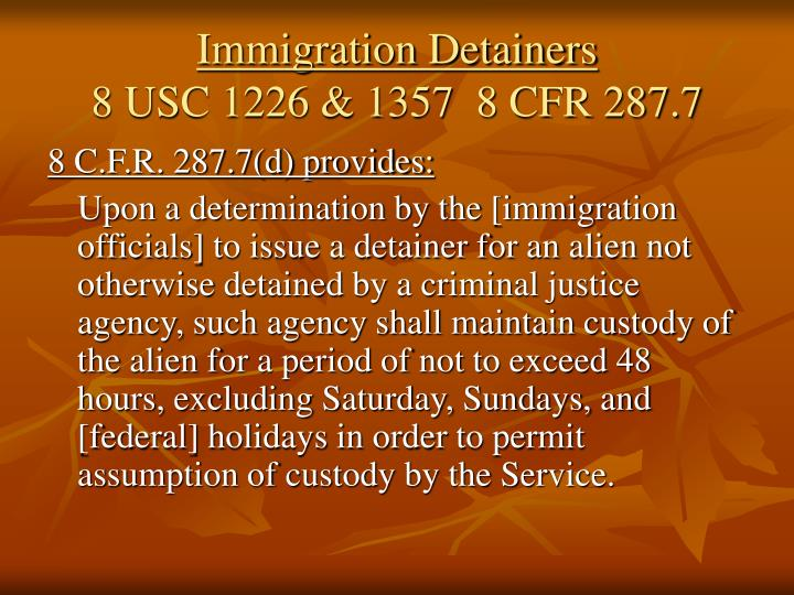 Immigration Detainers