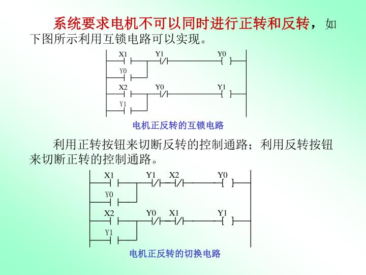 系统要求电机不可以同时进行正转和反转