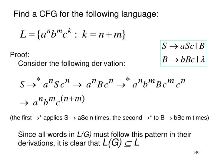 Find a CFG for the following language: