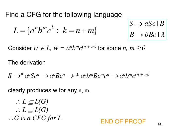 Find a CFG for the following language