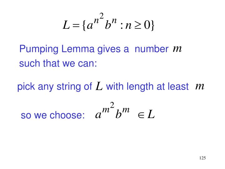Pumping Lemma gives a  number