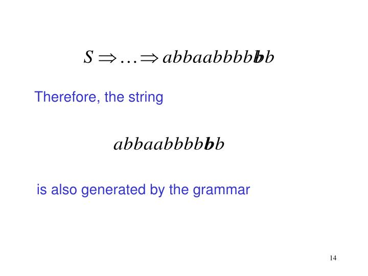 Therefore, the string