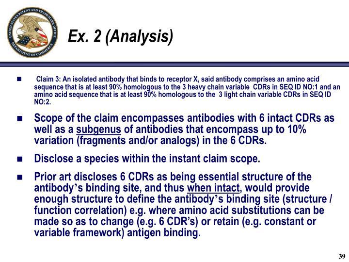 Ex. 2 (Analysis)