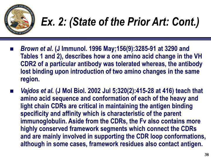 Ex. 2: (State of the Prior Art: Cont.)