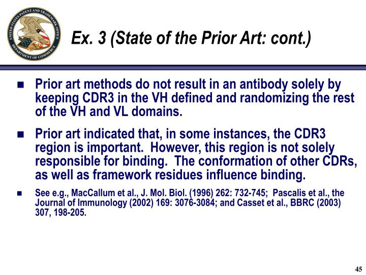 Ex. 3 (State of the Prior Art: cont.)