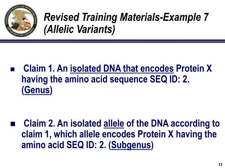 Revised Training Materials-Example 7