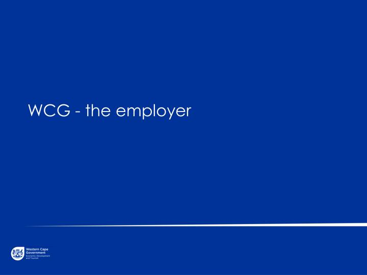 WCG - the employer