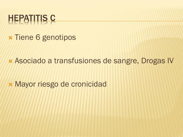 Tiene 6 genotipos