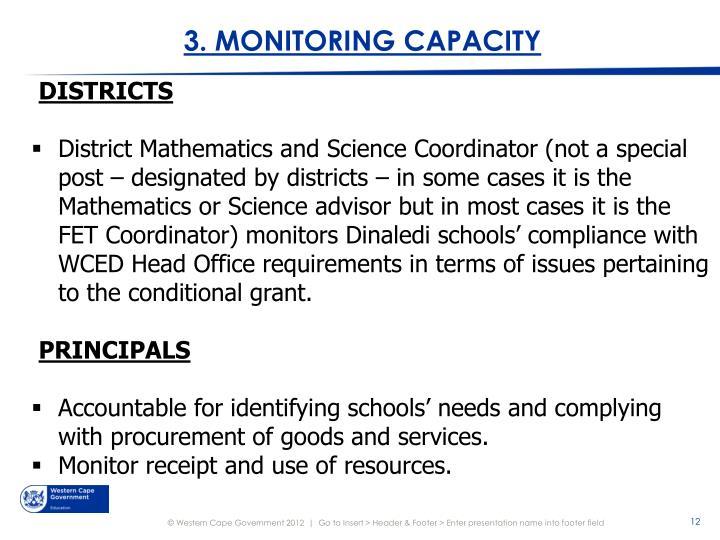 3. MONITORING CAPACITY