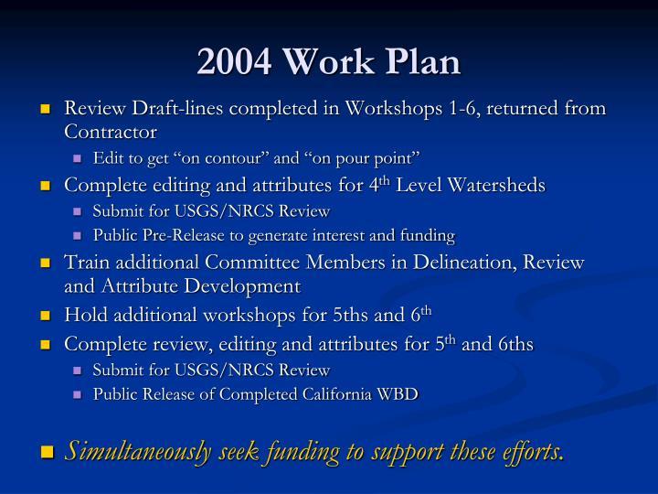 2004 Work Plan