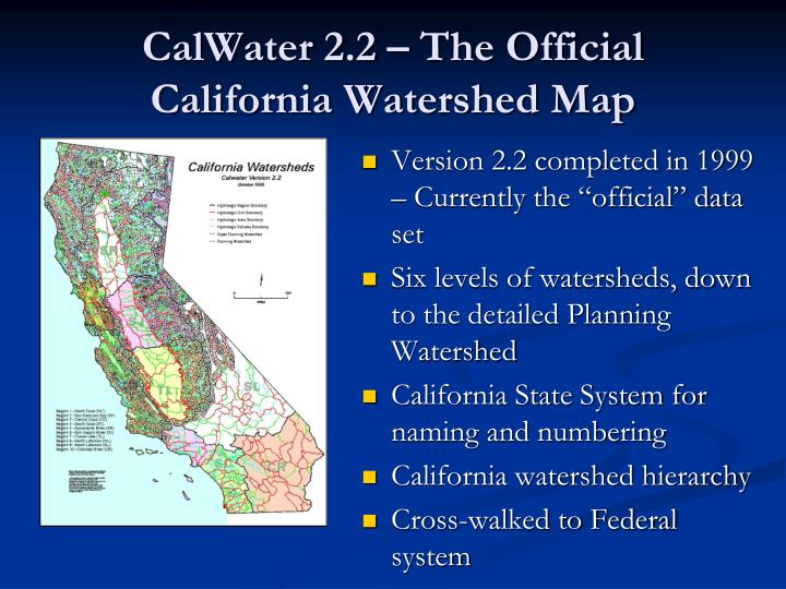 CalWater 2.2 – The Official California Watershed Map