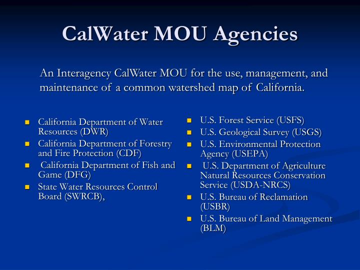 California Department of Water Resources (DWR)