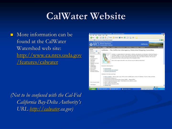 CalWater Website