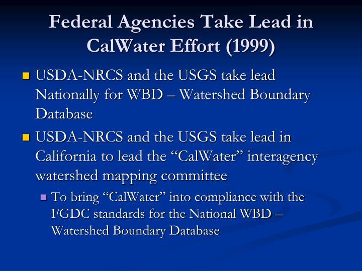Federal Agencies Take Lead in CalWater Effort (1999)
