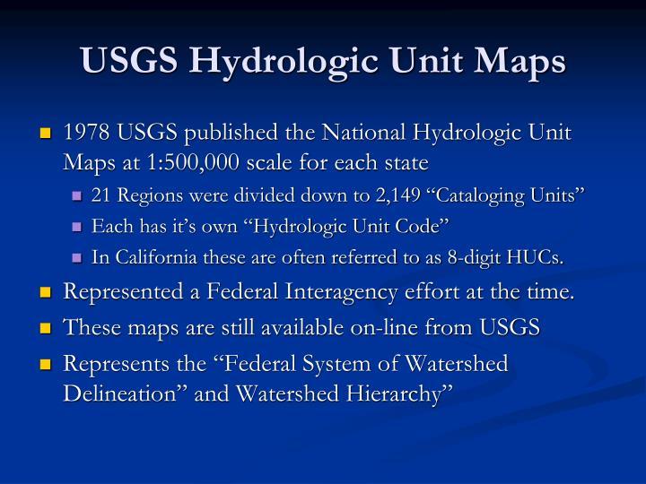 USGS Hydrologic Unit Maps