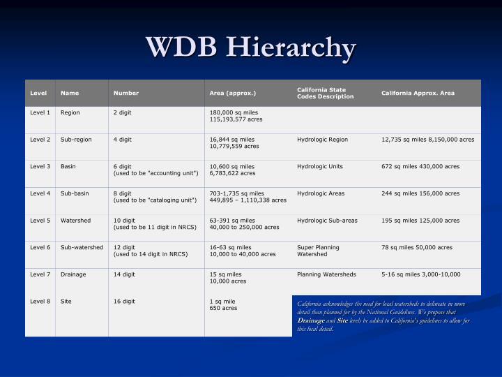 WDB Hierarchy