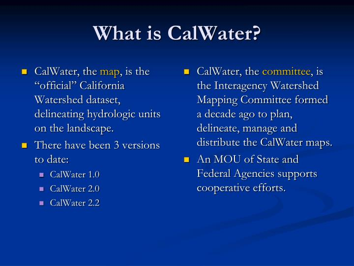CalWater, the