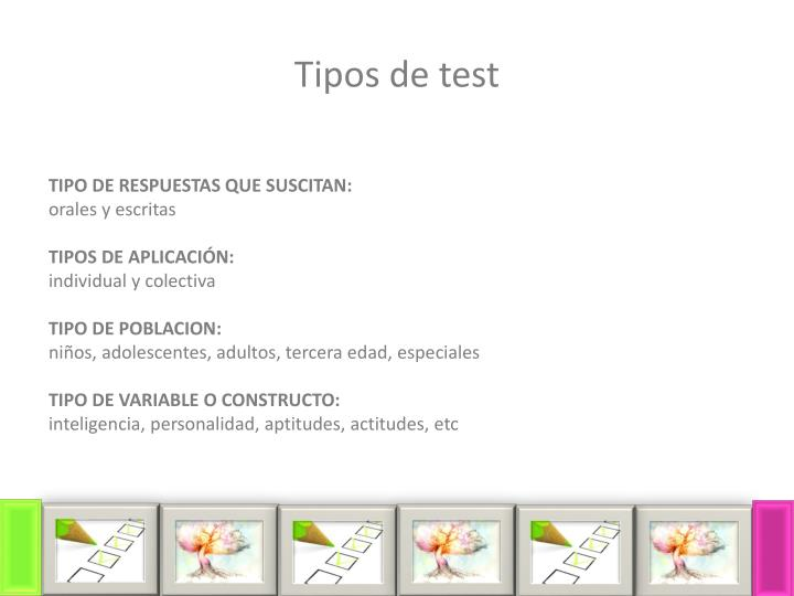 Tipos de test