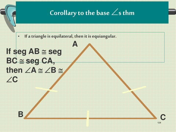Corollary to the base