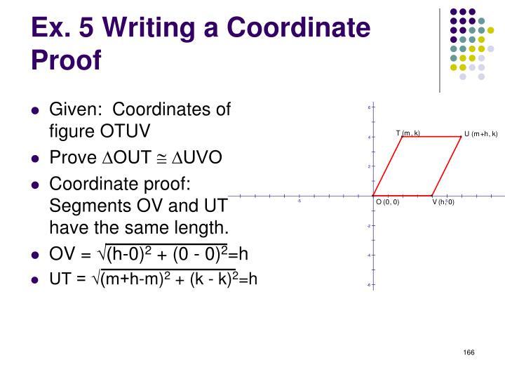 Given:  Coordinates of figure OTUV