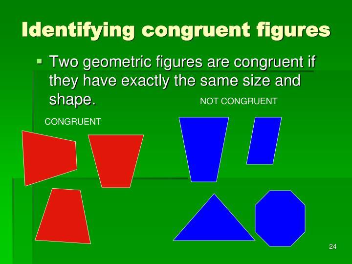 Identifying congruent figures