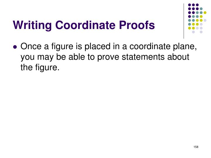 Writing Coordinate Proofs
