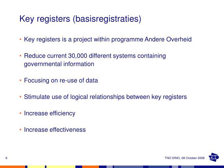 Key registers (basisregistraties)