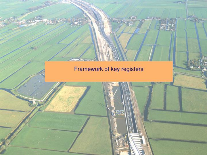 Framework of key registers